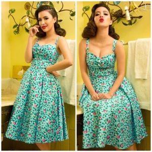 Dresses & Skirts - NWOT Pinup Girl Nancy Dress in Blue Lemonade